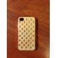 Gold Plated Shining Square Rivet Pattern Hard Case for iPhone 4/4S