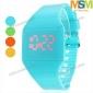 czerwony zegarek moda damska ekran dotykowy cyfrowy cukierków kolor led