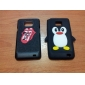 Lovely Penguin suunnittelu Soft Case for Samsung Galaxy Ace S5830 (Assorted Colors)
