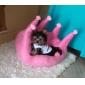 우아한 크라운 모양 개 침대 45x45cm (분류 된 색깔)