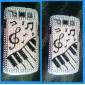 Shining Rhinestone Musical Note Mønster Hard Case til Samsung Galaxy S3 I9300