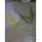 Shixin® 18 Inches Section Of Shiny Thick Aluminum Chain Necklace
