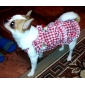 Plaid Pattern Lady Braces Skirt with Brooch for Dogs (Assorted Color,XS-XL)