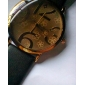 Relógio Unissex com Números Grandes e Pulseira de Couro PU