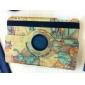 Exquisite Map Design Rotatable PU Leather Case w/ Stand for iPad mini 3, iPad mini 2, iPad mini