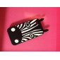 Black Zebra Pattern Soft Case for iPhone 4/4S