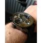 Hommes Bracelet Montre Quartz Japonais Double Fuseaux Horaires PU Bande Noir Marque- Oulm