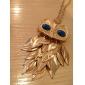 Eruner®Gold Plated Alloy Zircon Owl Pattern Necklace