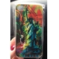 PC the Statue of Liberty Scrawl Pattern Hard Case for iPhone 4/4S