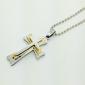 Eruner®Titanium Steel Classica Cross Style Pendant Man's Necklace (Random Color)