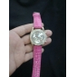 Women's Quartz Analog Crystal Case PU Band Wrist Watch (Assorted Colors)