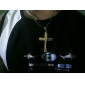 cruz colgante de collar de acero inoxidable de acero eruner®titanium