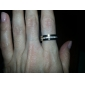 Stylish Ring Finger Ornament Jewelry with Rhinestones for Women Lady