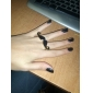 z&x® wenig böse Schnurrbartdoppelt-Fingerring-