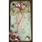 Bowknot Ribbon Zircon Covered Case for iPhone 4/4S