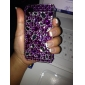 Protective PVC Case with Crystals Cover for iPhone 4, 4S (Purple)