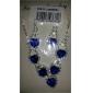 pendientes de plata chapado de diamantes en forma de corazón collar de zafiro trajes