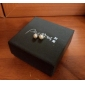 Titanium  Sterling Silver White Freshwater Cultured Pearl Button Stud Earrings With With Gift Box (8-9mm)