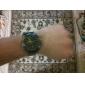 Unissex estilo simples PU analógico relógio de pulso de quartzo (preto)