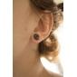 10 mm Symbole cerise Boucles d'oreilles en acier inoxydable