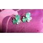 Stud Earrings Crystal Alloy White Black Orange Purple Green Jewelry Daily