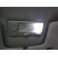 T5 3528 SMD 0.36w 12V 36lm 9-ledede hvidt lys bil pære (10stk)