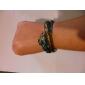 Lureme®Vintage Metal Hollow-out Fish Scale Pattern Bracelet