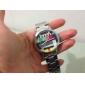 padrão de tv unisex prata quartzo relógio de pulso analógico