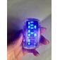超現代的 ブルーLED 腕時計(ペア)- ブラック&ホワイト