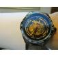SHENHUA Homme Montre mécanique Montre Bracelet Remontage automatique Gravure ajourée Acier Inoxydable Bande Luxe Noir