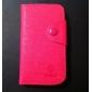 Etui en Similicuir pour iPhone 4/4S avec Port Carte SD et Fermoir (Autres Coloris Disponibles)