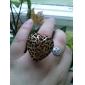 Aleación Hueco-hacia fuera del anillo del corazón del modelo del corazón (varios colores)
