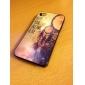 Retro Lumber farbige Zeichnung, Muster, Black Frame PC Hard Case für iPhone 4/4S