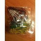 Bulb Style Colorful Paper Clips (Random Color, 10-Pack)
