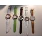 Women's Quartz Analog Musical Note Pattern Dial PU Band Wrist Watch (Assorted Colors)