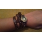 Women's PU Analog Quartz Bracelet Watch (Purple)