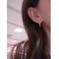 Women's  Scissors Shape Gold Plated Alloy Earrings