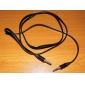 3.5mm Male to Male Audio Cable Flat Type Black for Monster Beats Sennheiser (1.2M)