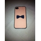Flash Design Bowknot Pattern Hard Case for iPhone 4/4S