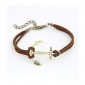 Eruner®BaoGuang®Prevailing Anchor Leather Bracelet(Random Colors)