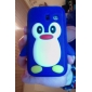 3D Cute Penguin Soft Rubber Silicone Case Skin Cover for Samsung Galaxy Y S5360
