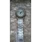 여성의 합금 아날로그 석영 손목 시계 (흰색)