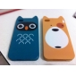 Case Dura para iPhone 4 e 4S - Urso Cartoon (Amarelo)