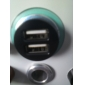Dual USB Cigarette Charger for the New iPad, iPad 2, iPhone 4 and 4S (2100mA, Black)