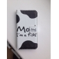 """Cartoon """"Moo!I'm A Fish!"""" Pattern Leather Hard Case for iPhone 4/4S"""