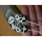 Panda Bear Style In-Ear Earphones for iPod (Assorted Colors)