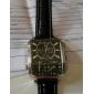 Reloj Pulsera Deportivo Quartz PC de Hombre Con  Correo de Cuero Negra