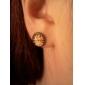 Rétro grandes boucles d'oreille en alliage de modèle de Bell
