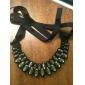 elegancki duży naszyjnik kryształ dla demitoilet wstążka