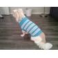 Кошка Собака Свитера Одежда для собак На каждый день Сохраняет тепло Полоски Синий